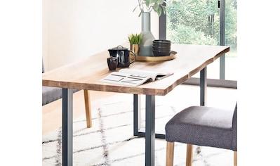 MCA living Esstisch »Rockford«, Massivholztisch mit Baumkante kaufen