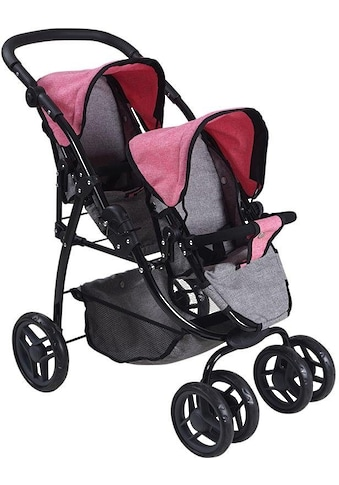 Knorrtoys® Puppen-Zwillingsbuggy »Milo - jeans grey« kaufen