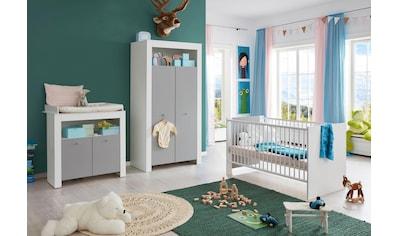 Babyzimmer-Komplettset »Lissabon«, (Set, 3 St.), Bett + Wickelkommode + 2 trg. Schrank kaufen