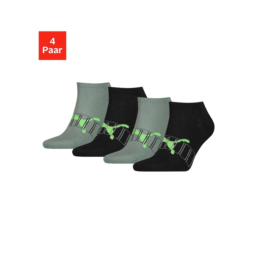 PUMA Sneakersocken, (4 Paar), mit trendigem Markenlogo