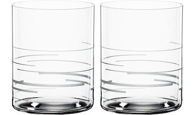 SPIEGELAU Whiskyglas »Lines«, (Set, 2 tlg.), Dekor graviert, 430 ml, 2-teilig kaufen
