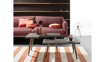 INOSIGN Couchtisch »Loupe«, Tischplatte aus Beton, Tischbeine aus Messing, Breite 137 cm kaufen