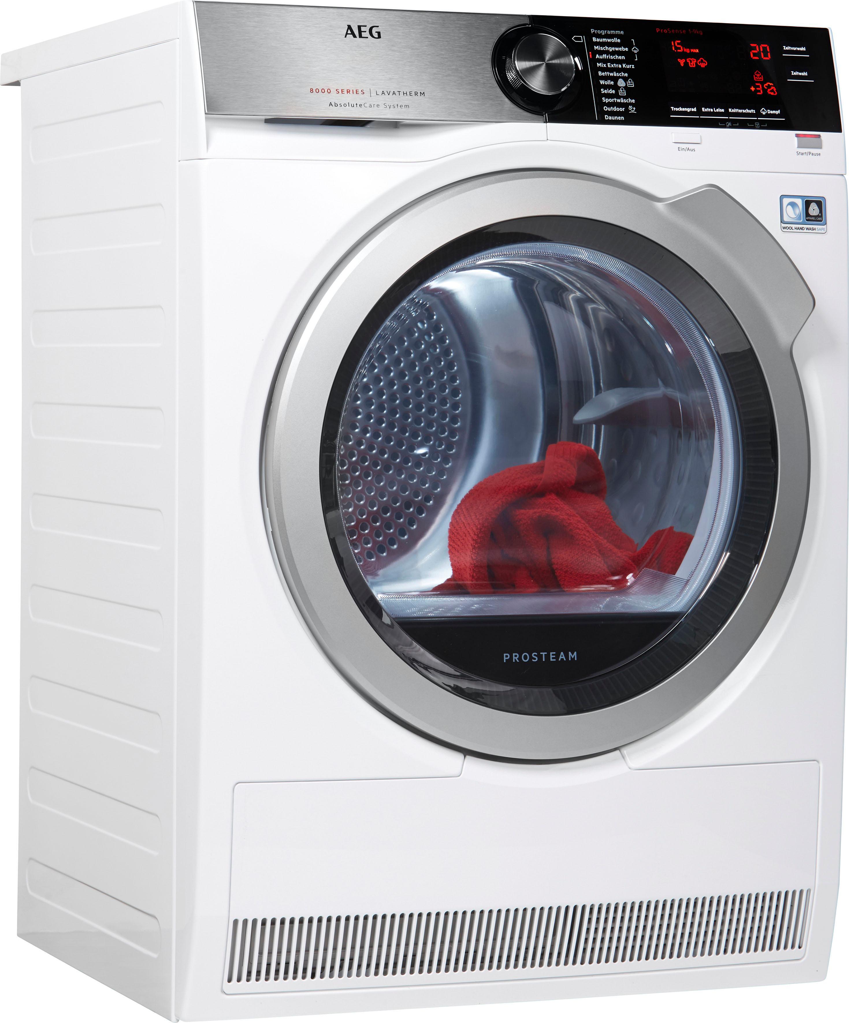 AEG Wärmepumpentrockner 8000 T8DE88595D, 9 kg | Bad > Waschmaschinen und Trockner | Weiß | AEG ELECTROLUX