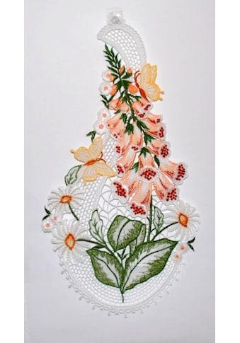 Stickereien Plauen Fensterbild »Fingerhut«, Hakenaufhängung kaufen