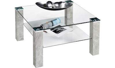 INOSIGN Couchtisch, Couchtisch quadratisch mit Glasplatte und Glasboden kaufen