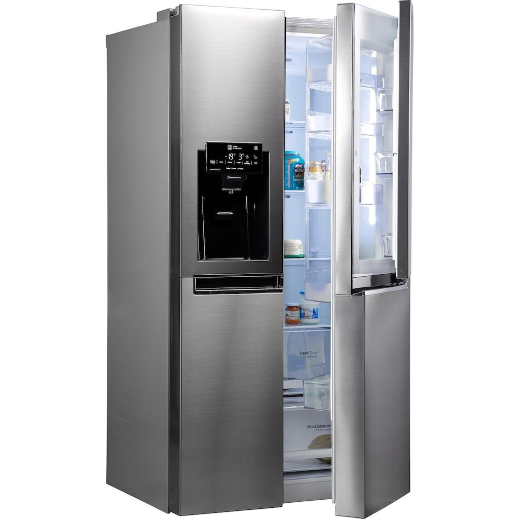 LG Side-by-Side, GSJ461DIDV, 179 cm hoch, 91,2 cm breit, Door-in-Door