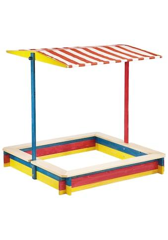 Pinolino® Sandkasten »Lukas«, 120x120 cm, mit Dach kaufen