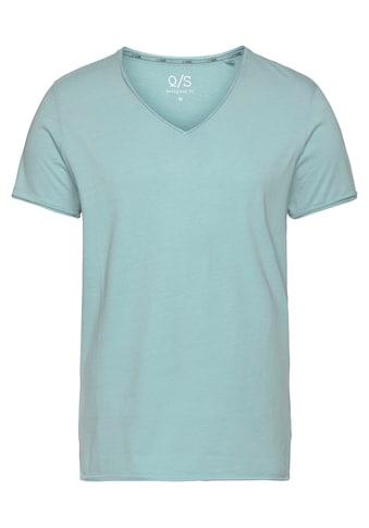 Q/S designed by V-Shirt, mit modischen Rollkanten kaufen