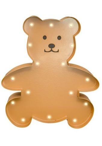 MARQUEE LIGHTS LED Dekolicht »Teddy«, 1 St., Warmweiß, Wandlampe, Tischlampe Teddy mit 18 festverbauten LEDs - 20cm Breit und 23cm hoch kaufen