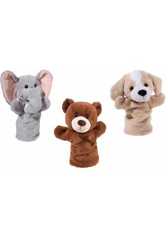 Heunec® Handpuppe »Bär, Hund, Elefant«, (Set, 3 tlg.) kaufen
