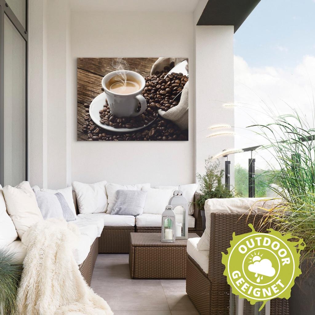 Artland Wandbild »Heißer Kaffee - dampfender Kaffee«, Getränke, (1 St.), in vielen Größen & Produktarten - Alubild / Outdoorbild für den Außenbereich, Leinwandbild, Poster, Wandaufkleber / Wandtattoo auch für Badezimmer geeignet