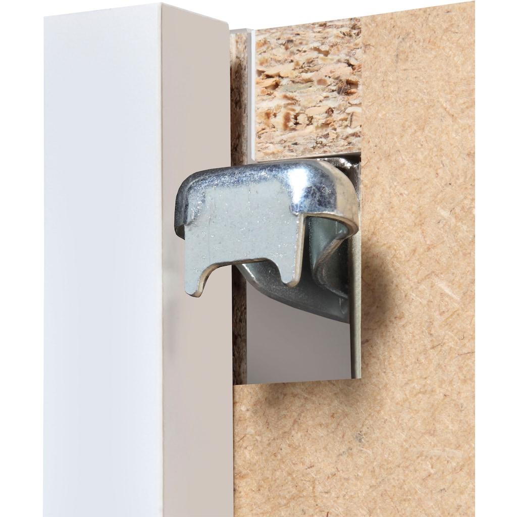 Schildmeyer Spiegelschrank »Torino«, Breite 60 cm, 2-türig, LED-Beleuchtung, Schalter-/Steckdosenbox, Glaseinlegeböden, Soft-Close, Made in Germany