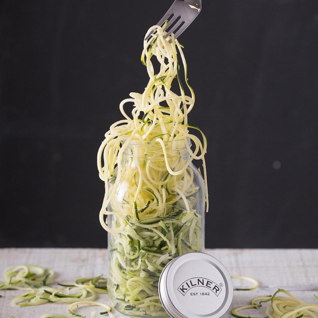 KILNER Spiralschneider »(Kilner-Glas mit Spiraliser-Aufsatz)«, 1 Liter
