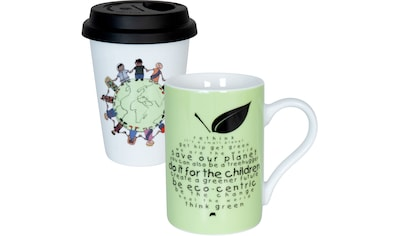 Könitz Becher »Eco - rethink + it`s our earth«, (Set, 2 tlg., 1x Coffee to go Becher +... kaufen