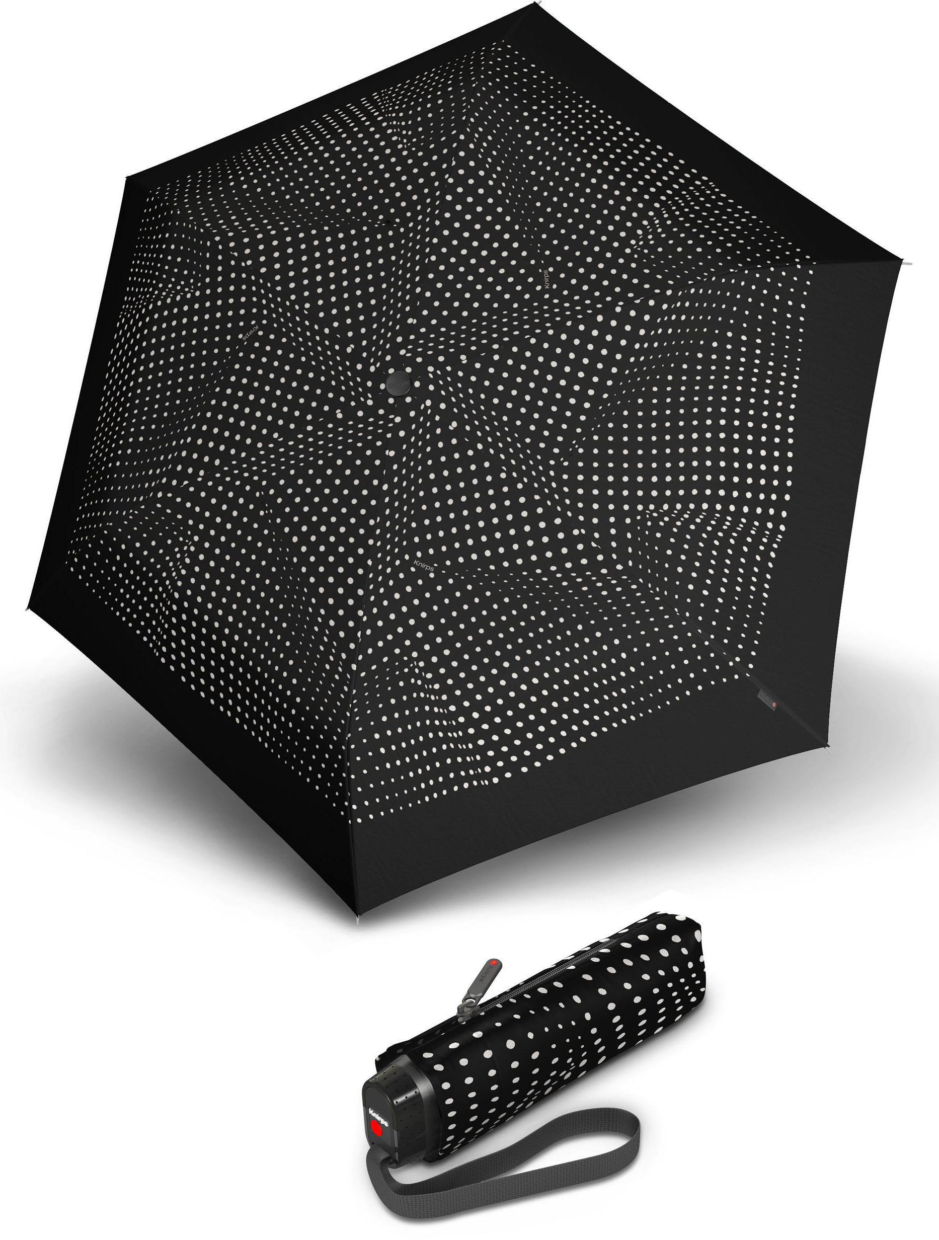 Knirps® Regenschirm - Taschenschirm, »TS.010 Slim Small Manual bolero black/ecru« | Accessoires > Regenschirme > Taschenschirme | Schwarz | KNIRPS