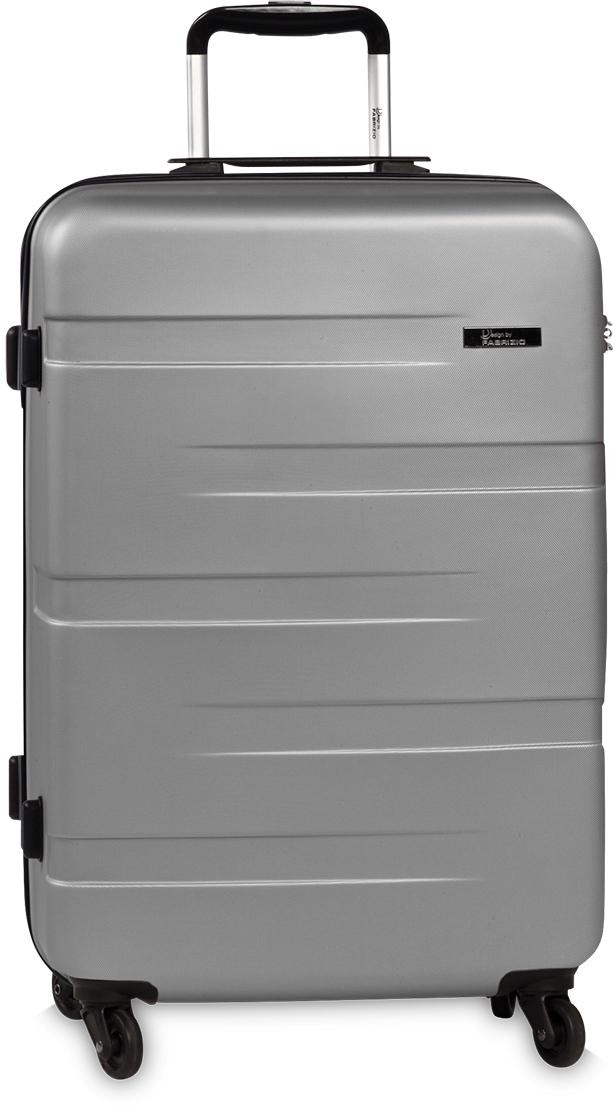 fabrizio® Hartschalen-Trolley Formation L, 77 cm, Silberfarben, 4 Rollen | Taschen > Koffer & Trolleys > Trolleys | FABRIZIO