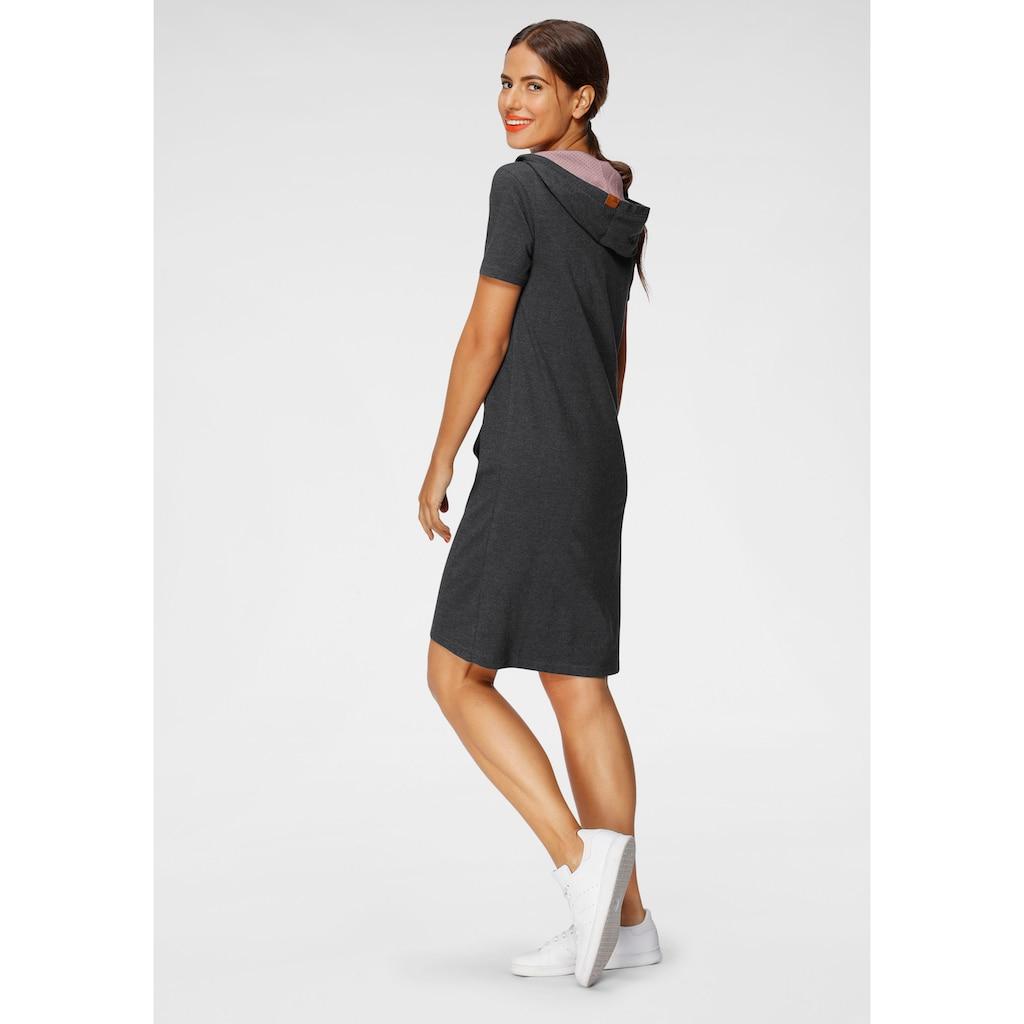 Alife & Kickin Jerseykleid »LeonoraAK«, mit Kontrastfutter in der Kapuze