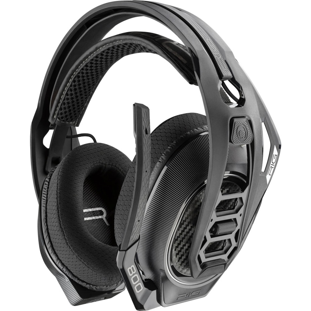 nacon Gaming-Headset »RIG 800LX V2 Gaming-Headset, schwarz, USB, kabellos, Dolby Atmos, Over Ear, PC, Xbox, XboxOne, Xbox Series«, Over Ear, Lautstärkeregelung On-Ear