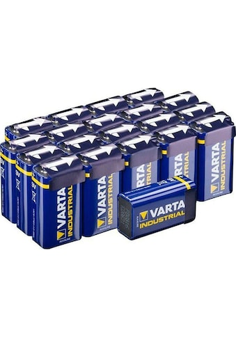 VARTA »Varta Industrial Pro Batterie 4022 9 Volt Block für energieintensive Geräte z.B. elektronische Rauchmelder Vorratspack 20er Pack Batterien« Batterie kaufen