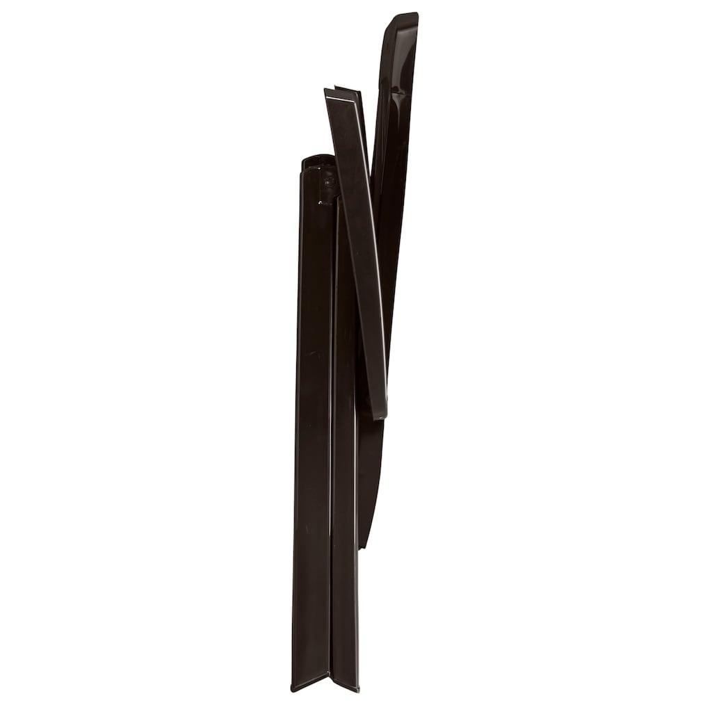 Best Gartenstuhl »Elise«, 2er Set, Kunststoff, verstellbar, braun, inkl. Auflage