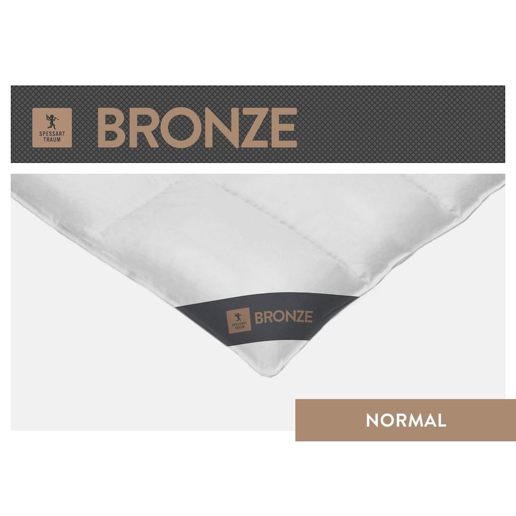 SPESSARTTRAUM Daunenbettdecke »Bronze«, normal, Füllung 90% Daunen, 10% Federn, Bezug 100% Baumwolle, (1 St.), hergestellt in Deutschland, allergikerfreundlich
