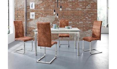 Essgruppe »Nelson/Cosy«, (Set, 5 tlg.), mit 4 Stühlen, Tisch ausziehbar, Breite... kaufen
