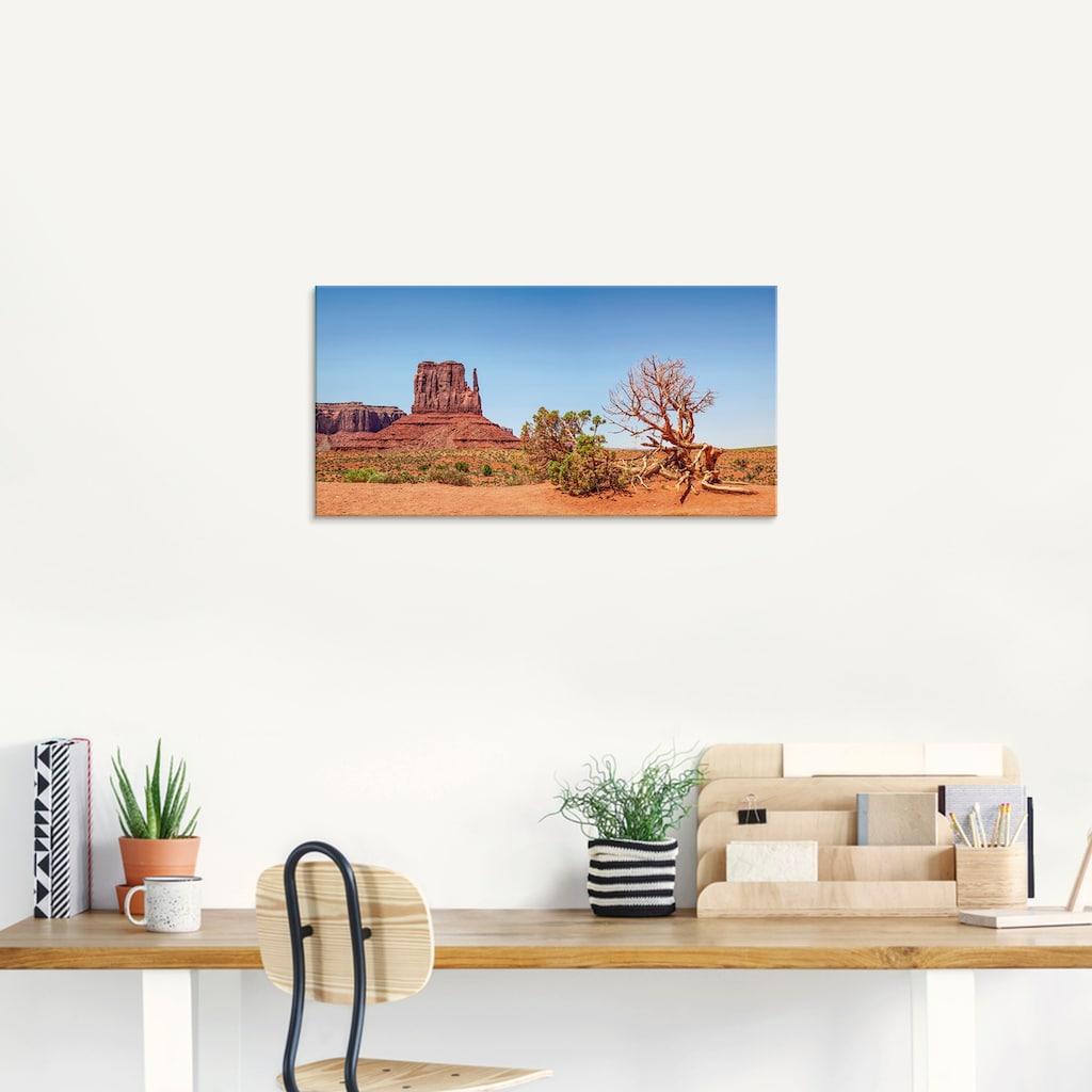 Artland Glasbild »Monument Valley West Mitten Butte«, Amerika, (1 St.)