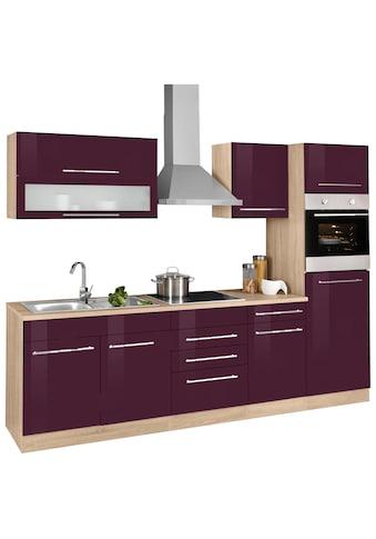 HELD MÖBEL Küchenzeile »Eton«, mit E-Geräten, Breite 270 cm kaufen