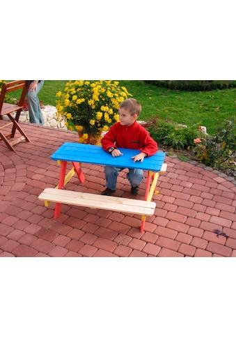 dobar Kindersitzgruppe, Picknicktisch, BxTxH: 85x90x45 cm, für 4 Kinder kaufen
