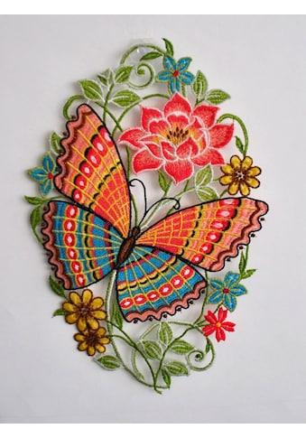 Stickereien Plauen Fensterbild »Schmetterling«, Hakenaufhängung kaufen