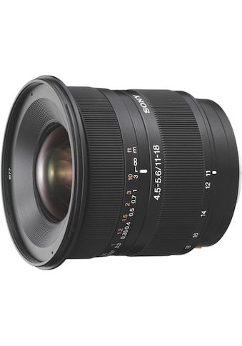 Sony Objektiv »A - Mount - Objektiv 11 - 18 mm, F4.5 - 5.6 SAL1118« kaufen