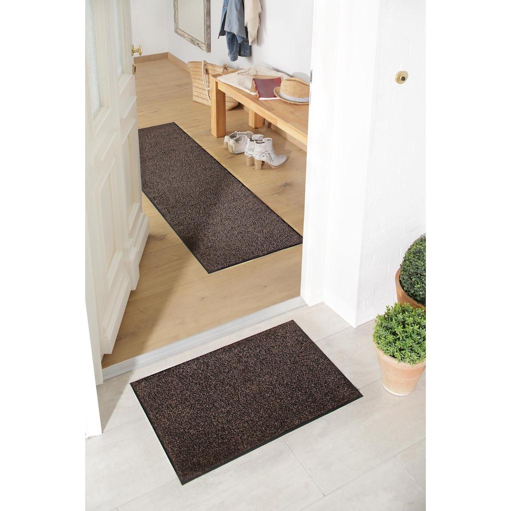 my home Fußmatte »Ember«, rechteckig, 9 mm Höhe, Fussabstreifer, Fussabtreter, Schmutzfangläufer, Schmutzfangmatte, Schmutzfangteppich, Schmutzmatte, Türmatte, Türvorleger, In- und Outdoor geeignet