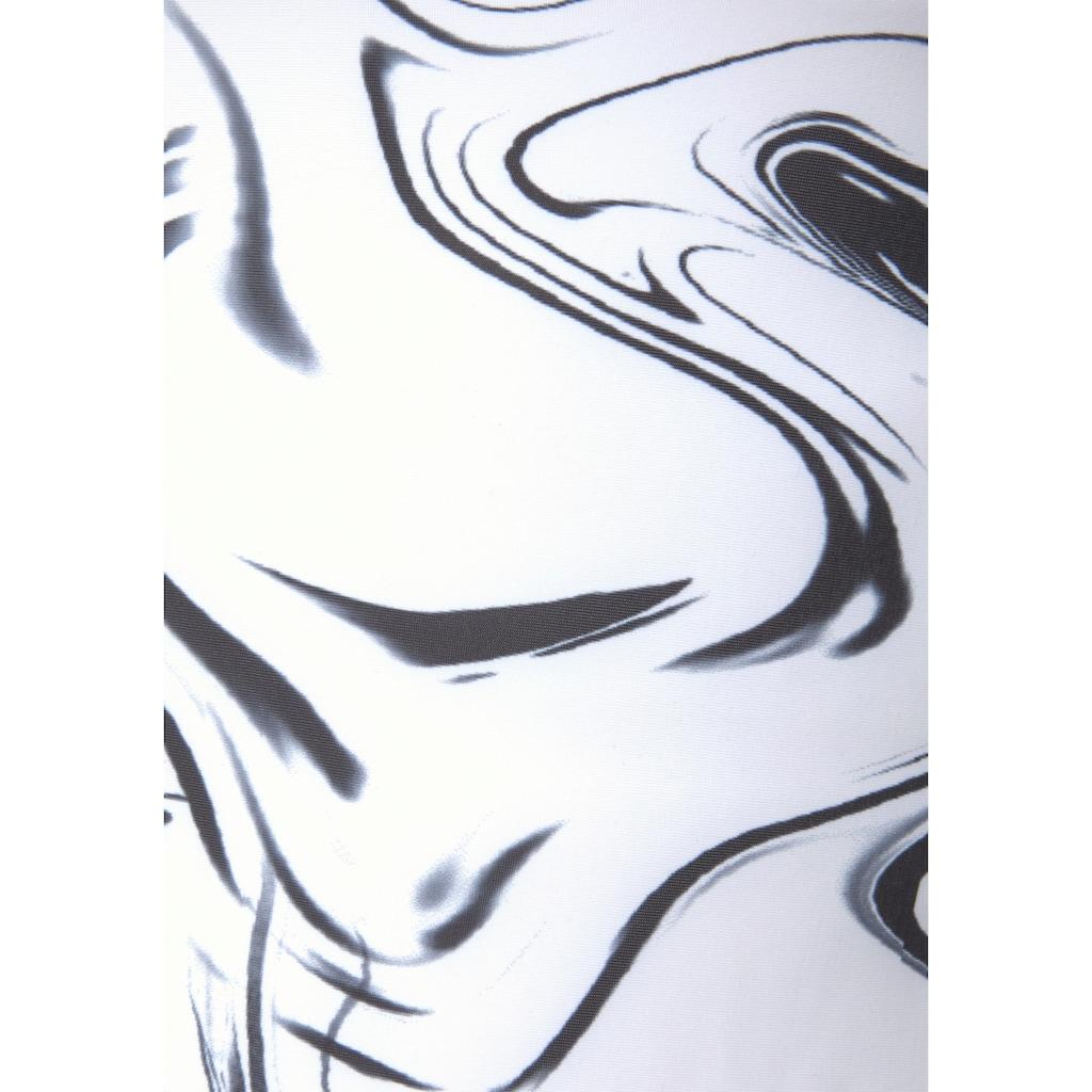 LASCANA ACTIVE Sporttop »White Marble«, mit gekreuzten Trägern