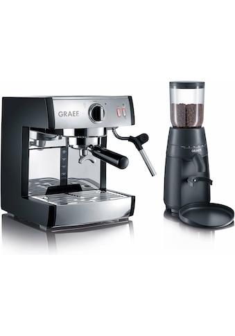 Graef Siebträgermaschine »Espressomaschine pivalla SET«, inkl. Kaffeemühle CM702 im... kaufen
