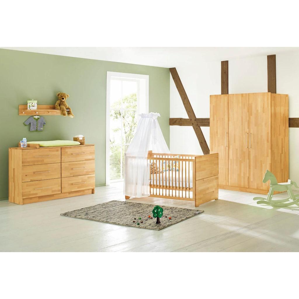 Pinolino® Babyzimmer-Komplettset »Natura«, (Set, 3 St.), extrabreit groß; mit Kinderbett, Schrank und Wickelkommode; Made in Europe