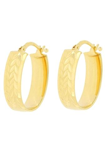 Firetti Paar Creolen »Glanz, diamantiert, mit Blütenstruktur« kaufen