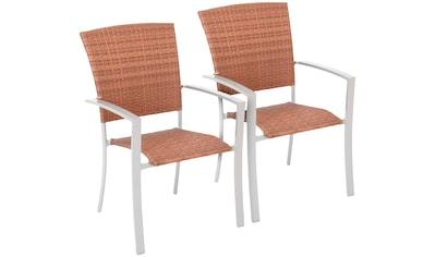 MERXX Gartenstuhl »Savonna«, 2er Set, Polyrattan, stapelbar, 2er Set kaufen