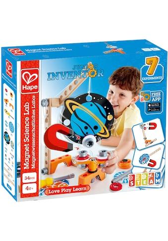 "Hape Konstruktions - Spielset ""Junior Inventor Magnetwissenschaftliches Labor"", Holz Kunststoff, (34 - tlg.) kaufen"