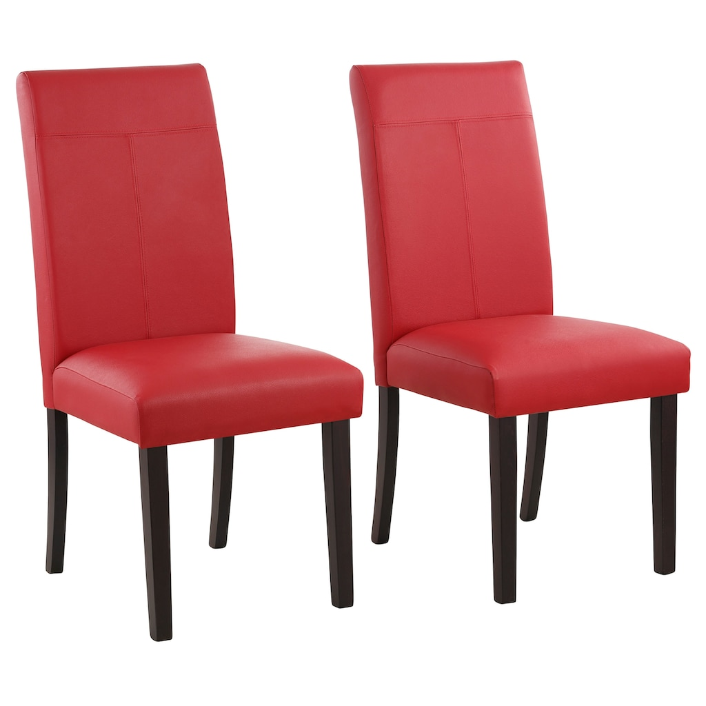 Home affaire 4-Fußstuhl »Rubin«, Im 2er, 4er oder 6er-Set, mit honnigfarbenen oder dunkelbraunen Beinen