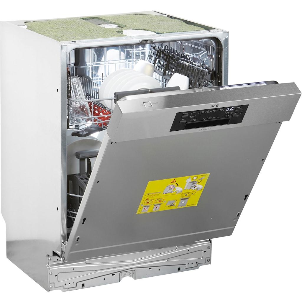 AEG teilintegrierbarer Geschirrspüler »FEE63600PM«, FEE63600PM, 13 Maßgedecke
