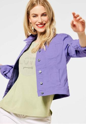 STREET ONE Jeansjacke »Roxana«, aus farbigem Denim kaufen