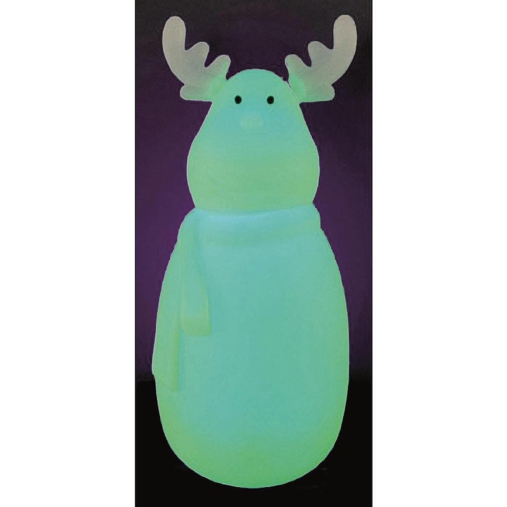 BONETTI LED Dekofigur »Elch«, Neutralweiß-Tageslichtweiß-Warmweiß-Kaltweiß, mit Farbwechsel