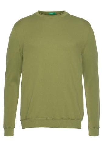 United Colors of Benetton Strickpullover, unifarben kaufen