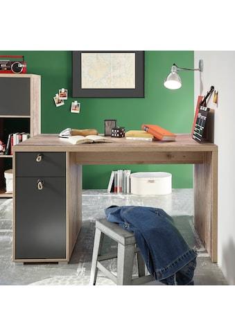 Schreibtisch »Merlin«, mit Seilgriffen, im modernen Dekor Old Style hell kaufen