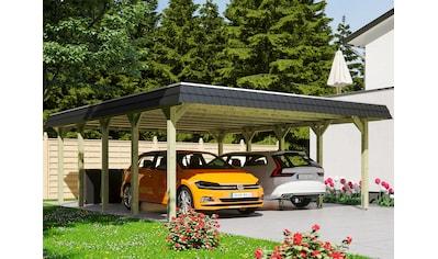 Skanholz Doppelcarport »Spreewald«, Fichtenholz, 530 cm, grün kaufen