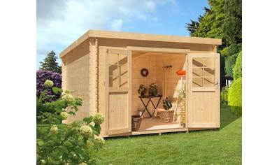 Kiehn - Holz Gartenhaus »Hummelsee 2«, BxT: 240x210 cm, inkl. Aufbau und Fußboden, 19 mm Wandstärke kaufen