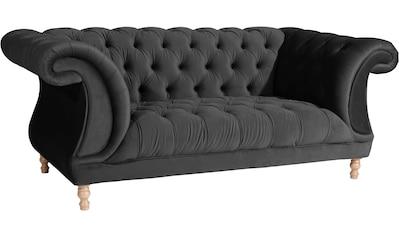 Max Winzer® Chesterfield-Sofa »Isabelle«, mit edler Knopfheftung & gedrechselten Füßen in Buche natur, Breite 200 cm kaufen