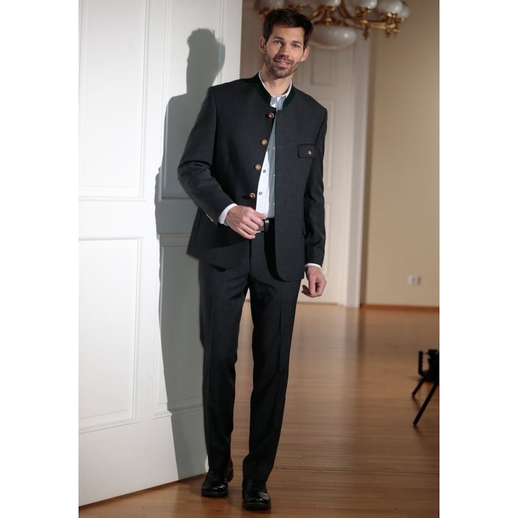 Murk Anzug, Herren, mit Knöpfen in Hornoptik