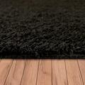 Paco Home Hochflor-Teppich »Vienna 200«, rechteckig, 25 mm Höhe, waschbarer Uni Hochflor Shaggy, Wohnzimmer