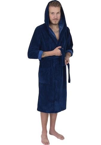 Wewo fashion Herrenbademantel »1018«, (1 St.), in bequemer Langform kaufen